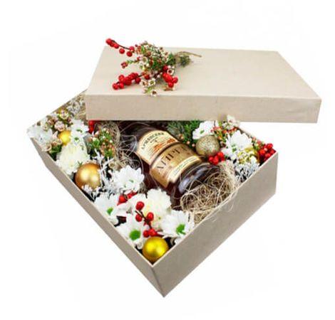 """Подарочная коробка """"Новогоднее настроение"""". Superflowers.com.ua"""