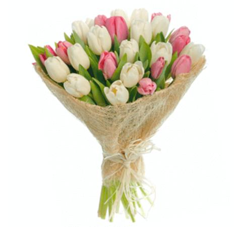 """Букет из 25 тюльпанов """"Бали"""". Superflowers.com.ua"""