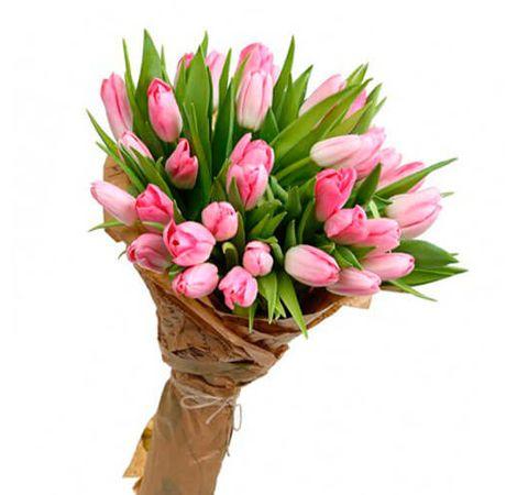 Букет из 29 тюльпанов. Superflowers.com.ua