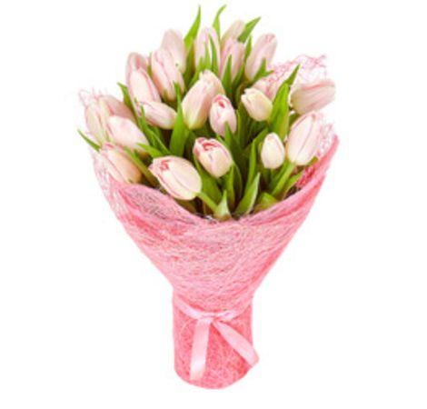 """Букет из розовых тюльпанов """"Рассвет"""""""