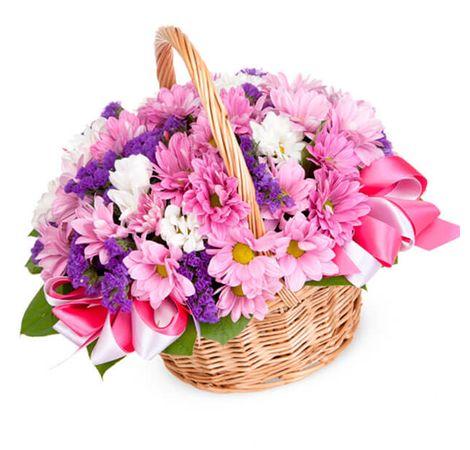 """Цветы в корзине """"Версаль"""". Superflowers.com.ua"""