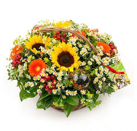 """Корзина цветов """"Поляна"""". Superflowers.com.ua"""