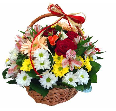 """Цветочная корзина """"Летняя сказка"""". Superflowers.com.ua"""