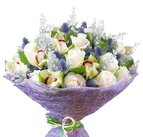 """Сборный букет цветов """"Сказочный вечер"""""""