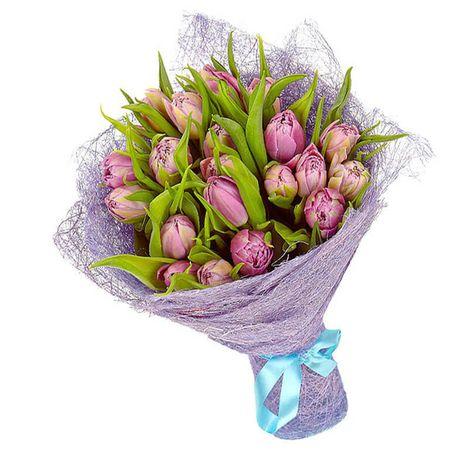 """Букет сиреневых тюльпанов """"Радостное мгновение"""". Superflowers.com.ua"""